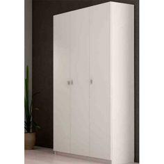 Armario Multiusos en color blanco con tres puertas que puedes poner en la cocina o en cualquier espacio de tu hogar ya que es perfecto para cualquier lugar donde lo necesites.