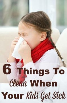 When kids get sick it can be a lot of work taking care of them. Make sure to clean these 6 things to make sure they're as comfortable as possible, and also so there is less likelihood of spreading germs to others in the family. #ad