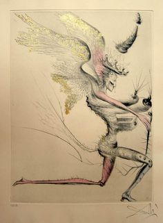 Salvador Dali - Venus in Furs - Le Demon Aile (Winged Demon) - 1969 Etching