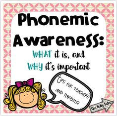 Here's something you may not know: If you are teaching children how to read, then not only should you be knowledgable about phonemic awareness, but you should be doing activities daily with your students to help support their development in that area. Kindergarten Phonics, Teaching Phonics, Teaching Kids, Literacy, Phonemic Awareness Activities, Reading Specialist, Reading Strategies, Sight Words, Best Teacher