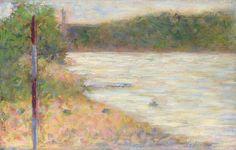 Сёра, Жорж-Пьер - Речной берег (Сена в Аньере). Часть 3 Национальная галерея