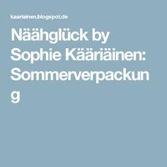 Näähglück by Sophie Kääriäinen: Sommerverpackung
