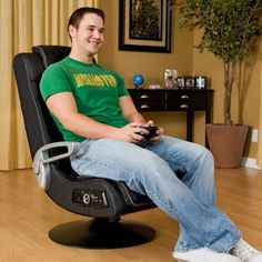 Ace Bayou 4.1 Pro Series X-Rocker Pedestal Wireless Game Chair 5129601 - The Ace Bayou 4.1 Pro Series X-Rocker Pedestal Wireless Game Chair is the perfect choice for hardcore gamers, with a sleek, futuristic design. Mounted...
