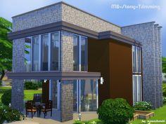 Sims 4 CC's - The Best: Stony Trimming - House by Matomibotaki