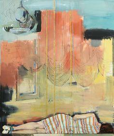 "Douglas Schneider. The Nap. Oil on canvas, 72 x 60""."