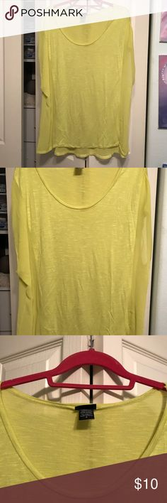 Light green blouse Torrid size 2 part is 100% rayon and other part is 100% polyester.  Sheer blouse and i wore a cami underneath. Wear with a statement necklace.  Can be dressed up or down.  torrid Tops Blouses