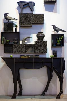Horse Console ELISEE And Ravens #ibride #design #interior #decoration  #animal #
