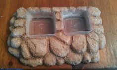 (link) DIY FOOD / WATER DISH PLATFORM BASE: linking to images found here: Bearded Dragon Enclosure Photos by KastKreations on Photobucket ~ Create a platform base with spots to hold removable dishes, this way the dishes are easier to clean. NOTE: no 'how-to' info, but see my other PINS for other projects which may prove helpful: CrabbyPatti & Crabitat @djohnisee