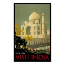 El cartel del viaje del vintage de la India del ~  Poster …