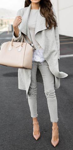 Grey & blush