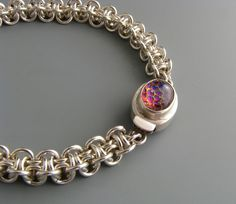 Sterling Silver Hoodoo Chainmaille Bracelet, via Etsy