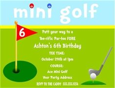 Golf birthday invitations golf invitations girls golfing party birthday invitation mini golf filmwisefo