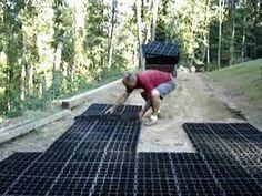 Andrew's Green Grass Driveway-Ecoraster [StabiliGrid] Installation