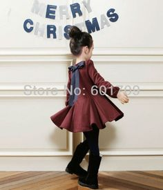 New 2013 Fashion 5pc/lot Korean Style Solid Flocking Baby Princess Girl Dress Long Sleeve Winter Children Dresses Clothes Black-in Dresses f...