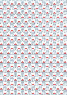 pattern by Minakani #badminton #play #shuttlecocks #minakani