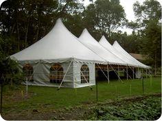 40' x 100' White Victorian Tent