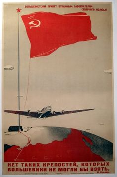 Original Vintage Posters -> Propaganda Posters -> Bolshevist Greeting to the Conquerors of the North Pole - AntikBar