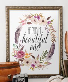 He calls me beautiful Printable verses Song von TwoBrushesDesigns