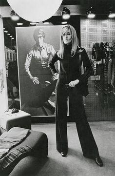 Betty Catroux in a Saint Laurent Rive Gauche boutique, 1969