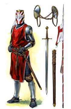 Caballero francés durante la Séptima Cruzada. Más en www.elgrancapitan.org/foro