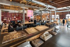 Photo 3 of 9 in Olson Kundig's Renovated Seattle Office Highlights a Kinetic, Hydro-Powered Skylight from Olson Kundig - Dwell Commercial Interior Design, Commercial Interiors, Exposed Brick Walls, Study Rooms, Three Floor, Red Bricks, Inspired Homes, Skylight, Design Process
