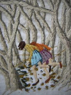 thick and knotted with the lives they had lived (detail) - Michelle Kingdom