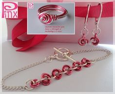 'Sweet Rosette Bracelet Ring and Earrings Set' is going up for auction at  3pm Mon, Aug 20 with a starting bid of $15.