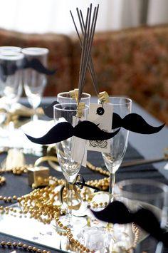 Silvesterparty Dekoration. Party Favor für die Gäste.