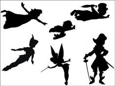 Image result for peter pan silhouette cake