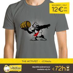 """(EN) """"The Activist"""" designed by the astounding JCMaziu is our NEW T-SHIRT. Available 72 hours, order yours today for only 12€/$14/£10 on >> WWW.WISTITEE.COM <<     (FR) """"The Activist"""" créé par l'incroyable JCMaziu est notre NOUVEAU T-SHIRT. Disponible 72 heures, réservez-le dès maintenant pour seulement 12€/$14/£10 sur >> WWW.WISTITEE.COM <<     #DonkeyKong #Gorille #Gorilla #Banksy #StreetArt #Mario #Banane #Banana #Nintendo #DonkeyKongCountry #Videogames #JeuVideo #JeuxVideo #Retrogaming"""