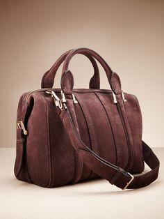 Burberry Luggage Suede Medium Nevinson Bowling Bag