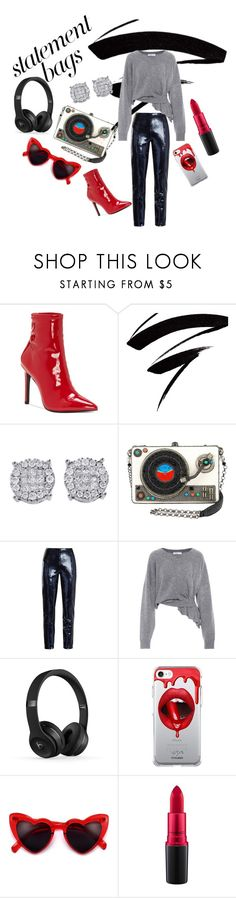 """DJ, please, pick up your phone"" by channie8406 ❤ liked on Polyvore featuring Jessica Simpson, Diane Von Furstenberg, Balenciaga, Fifth & Ninth, Lovestruck, MAC Cosmetics and statementbags"