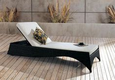 Calen Patio Chaise Lounge, love the shape! very cool!