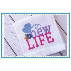 New Life Embroidery Design