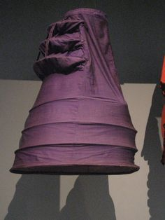 Another view of the Purple bustle worn in the 1870s. Circa 1872-75 at the LA County Museum of Art.