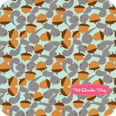 Get Together Sea Squirrels and Nuts Yardage SKU# PWDW069-SEAXX - Fat Quarter Shop