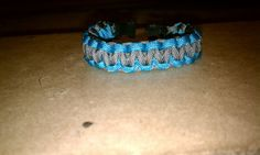 Blue and Grey Paracord Bracelet by KSKraftyCreations on Etsy, $9.95
