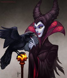 Maleficent by ~fadedkind on deviantART http://fadedkind.deviantart.com/art/Maleficent-319899483
