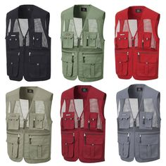 mens utility multi pockets zip hunting fishing shooting hiking vest waistcoat  #enteryoon