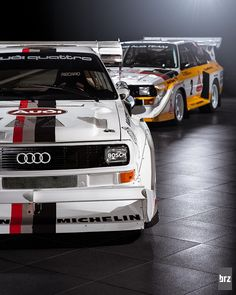 Audi Quattro S1 rally cars