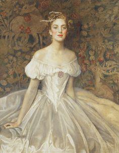 1954 Frank Cadogan Cowper - Portrait of Elizabeth Witts, daughter of Frederick Vavasour Broom Witts