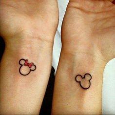 Mickey Minnie Head Tattoos