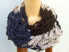 Loop, écharpe, tricoté, l'artisanat, acrylique laine : Echarpe, foulard, cravate par mon-petit-boutique