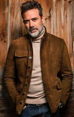 Get the Jeffrey Dean Morgan Brown Suede leather jacket from our store. This is a fabulous collection in men's fashion made from brown suede leather with inner covering of viscose lining. Avail now from our online store at discounted price.