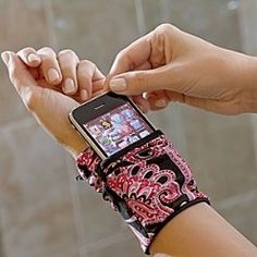 Cell phone wrist wallet