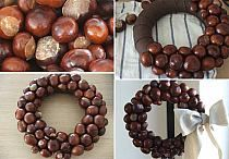 kaštany - Home Page Fall Crafts, Home Crafts, Crafts For Kids, Diy Crafts, Buckeye Crafts, Christmas Crafts, Christmas Decorations, Conkers, Handmade Decorations