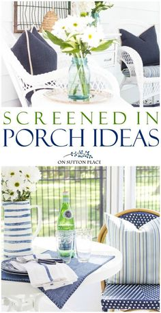 Use these screened in porch ideas to make your outdoor space live like an indoor room. Includes easy, budget-friendly tips and decor inspiration. We are want to say thanks if you like to share this post to another people via your. Outdoor Spaces, Outdoor Living, Outdoor Decor, Outdoor Ideas, Backyard Ideas, Garden Ideas, E Design, Modern Design, Adirondack Furniture