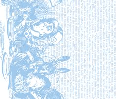 alice-vintage-border_blue-white fabric by ophelia on Spoonflower - custom fabric