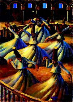Mahmoud Said - The Whirling Dervishes, 1929