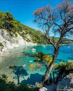 Nissaki beach, Corfou, Greece by Christophe Delas Most Beautiful Beaches, Beautiful Places To Visit, Great Places, Skopelos Greece, Skiathos, Places To Travel, Places To Go, Greece Pictures, Greece Islands